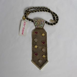 Betsey  Johnson Tie-Necklace.